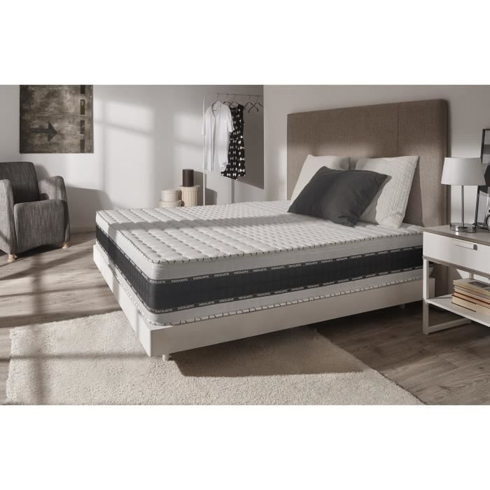 matelas luxe memory 25 cm 140x200 blue latex 7 zones mousse m moire confort 3701129954300. Black Bedroom Furniture Sets. Home Design Ideas