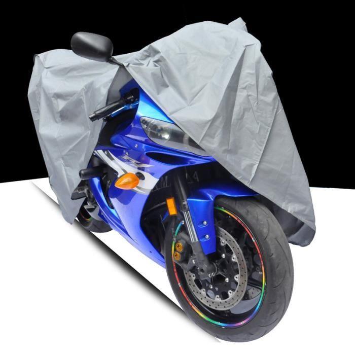 1 x Housse Moto Couvre-Moto Vélo Scooter XL 200cm Noir Imperméable Etanche