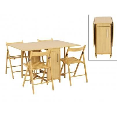 Ensemble modulable table 4 chaises emeline h t achat for Table a manger modulable