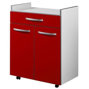 Meuble micro ondes achat vente meuble micro ondes pas cher cdiscount - Meuble micro onde rouge ...