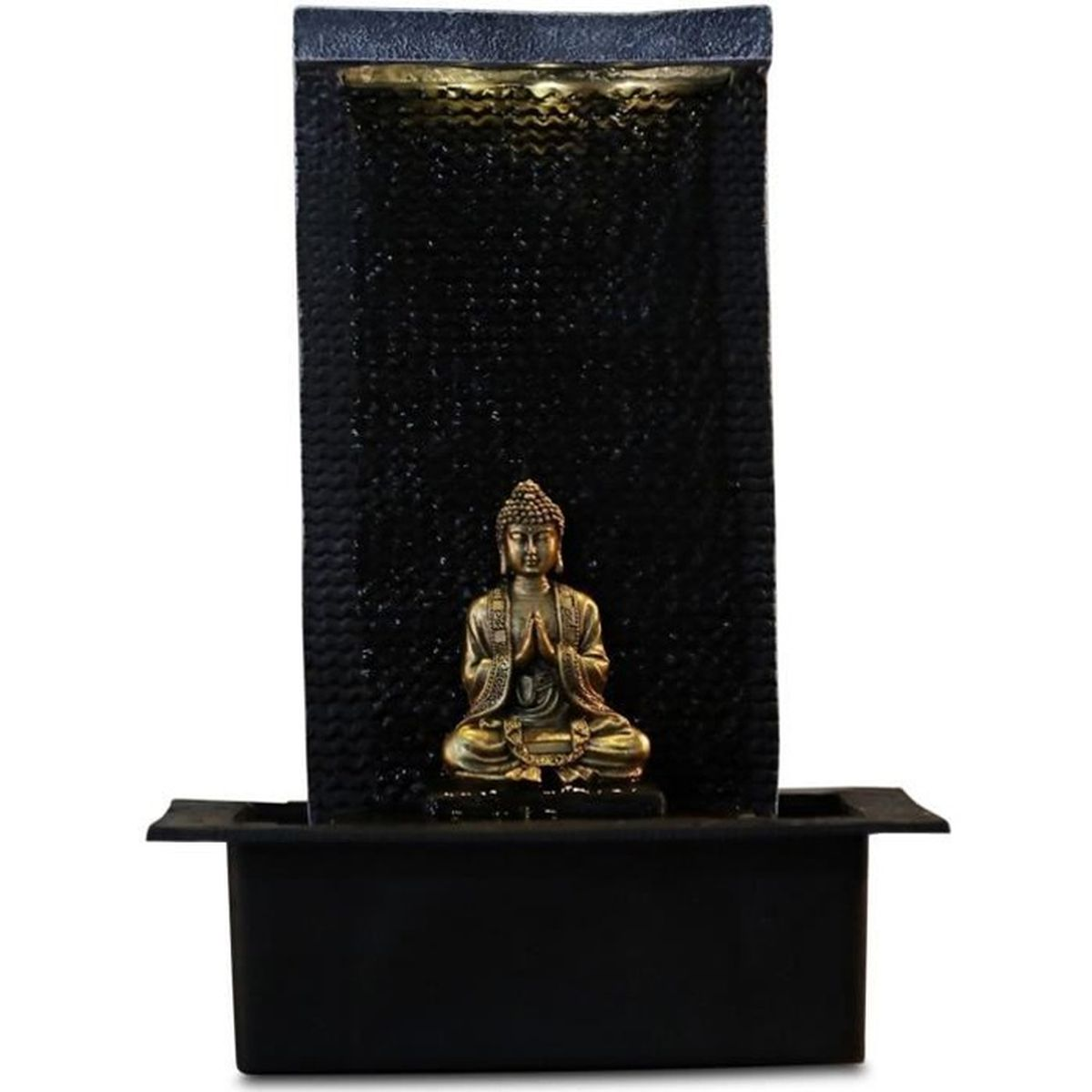 fontaine mur d 39 eau bouddha zenitude multicolore achat vente fontaine int rieure cdiscount. Black Bedroom Furniture Sets. Home Design Ideas
