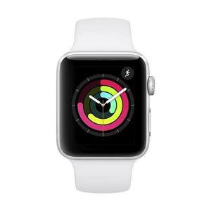 Montre connectée sport Apple Watch Series 3 42mm Aluminium - Argent - Bra