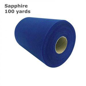 BANDEROLE - BANNIÈRE Version Sapphire - Rouleau De Tulle   15 Cm * 100