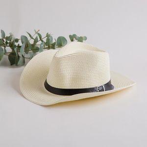 CHAPEAU - BOB Chapeau Cowboy Paille Homme Femme
