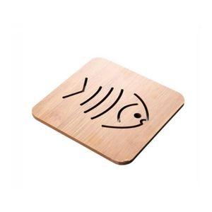 DESSOUS DE PLAT  1 PC bois résistant à la chaleur Pad pan casserole