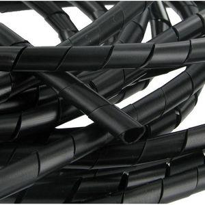 CÂBLE - FIL - GAINE Gaine spiralée 12 à 70 mm noire 10 mètres