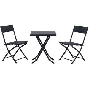 SALON DE JARDIN  Ensemble meubles de jardin design table carré et c