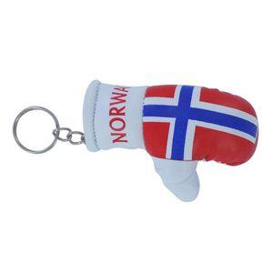 PORTE-CLÉS Porte cles  gant de boxe drapeau norvege