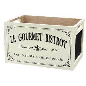 PETIT MEUBLE RANGEMENT  Casier Cageot Cagette Caisse en Bois Bistrot Blanc