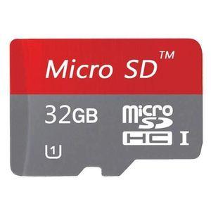 CARTE MÉMOIRE Carte Mémoire Micro SD 32Go(Rouge) + Adaptateur SD