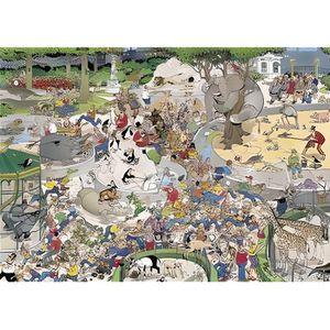 PUZZLE Puzzle 1000 pièces - Jan Van Haasteren : Le Zoo