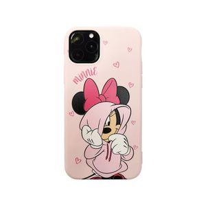 COQUE - BUMPER Coque iPhone 11,Disney Rose Minnie Antichoc Premiu