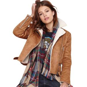 PARKA Femme Hiver Daim Veste Mode Couture Zip Polaire Do