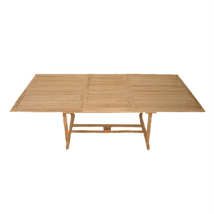 Table de jardin en teck massif extensible 180 240 cm for Table extensible 350 cm