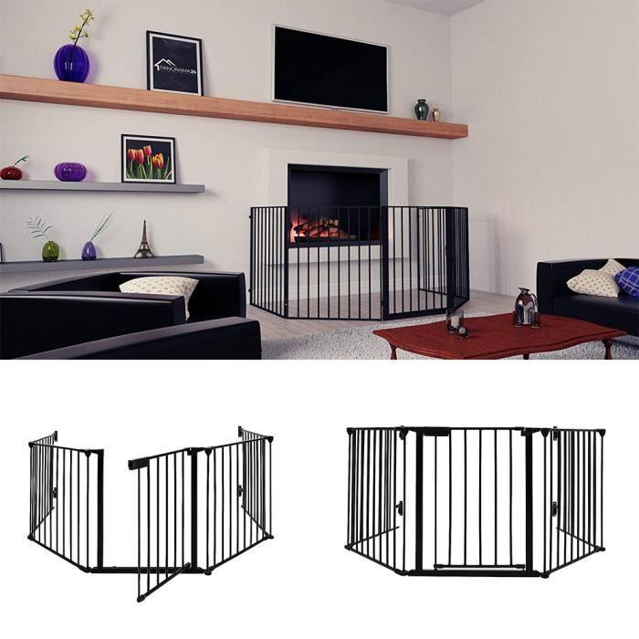 Barrière de sécurité enfant - Barrière de protection cheminée - 5 panneaux
