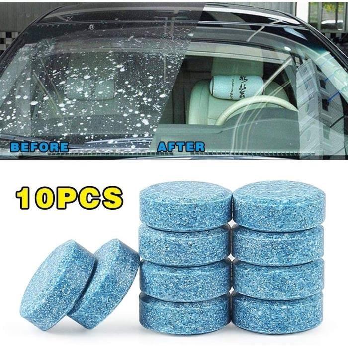 Paperkiddo multifonctionnel 10 pièces comprimé effervescent de voiture pare-brise de voiture comprimés nettoyant solide