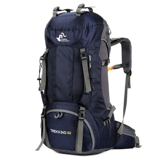 60L Deep Blue -Sac à dos étanche de grande capacité 50 et 60 L, matériel type MOLLE pour sport, activités d'extérieur, camping, e