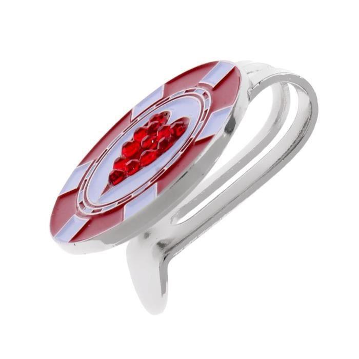 Marqueur Magnétique De Balle De Golf Motif Diamante - Coeur Avec Pince Clip De Chapeau Ceinture De Golf Cadeau Équipement Golf C¿Ur