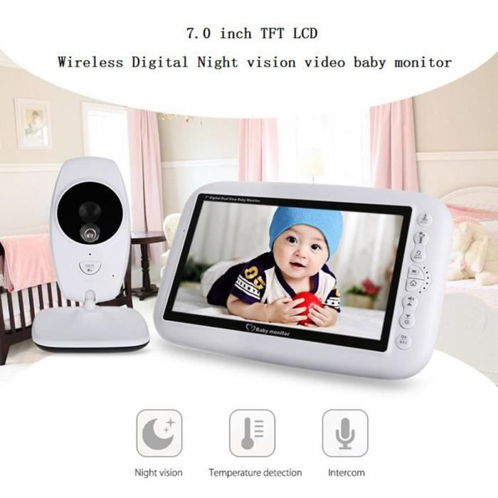 BABY PHONE - ECOUTE BEBE,Moniteur bébé sans fil Support double caméras 7 pouces couleur caméra de - Type With Single Camera