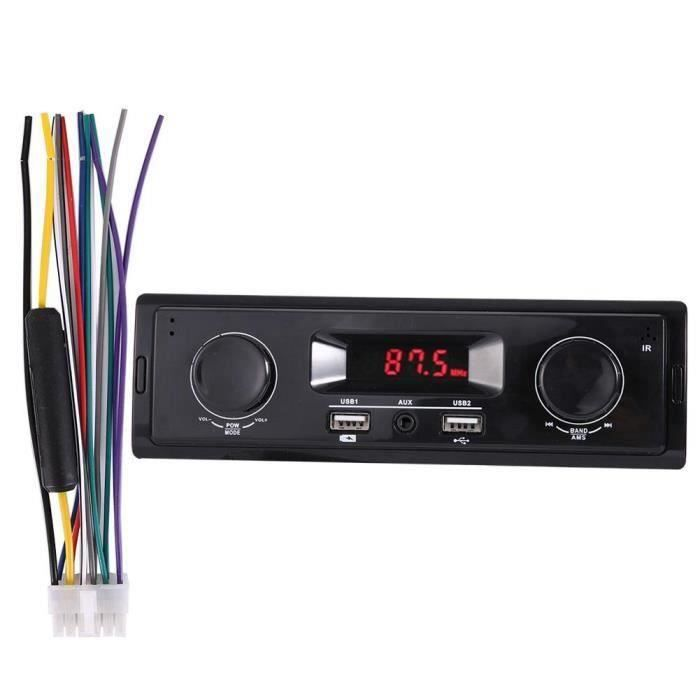 Stéréo pour voiture HI-FI Audio Radio Lecteur MP3 FM SD - TF USB Entrée AUX Simple 1 Din