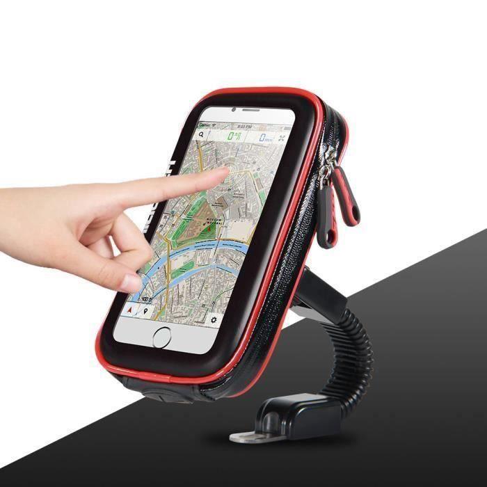 Support de téléphone portable moto support de support de support de vélo pour téléphone sac étui étanche pour téléphones intelligent