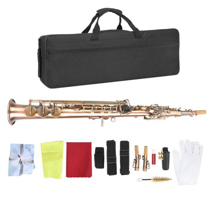 Saxophone Soprano en cuivre, Saxophone droit en cuivre rouge Vintage, Soprano pour un usage professionnel à domicile