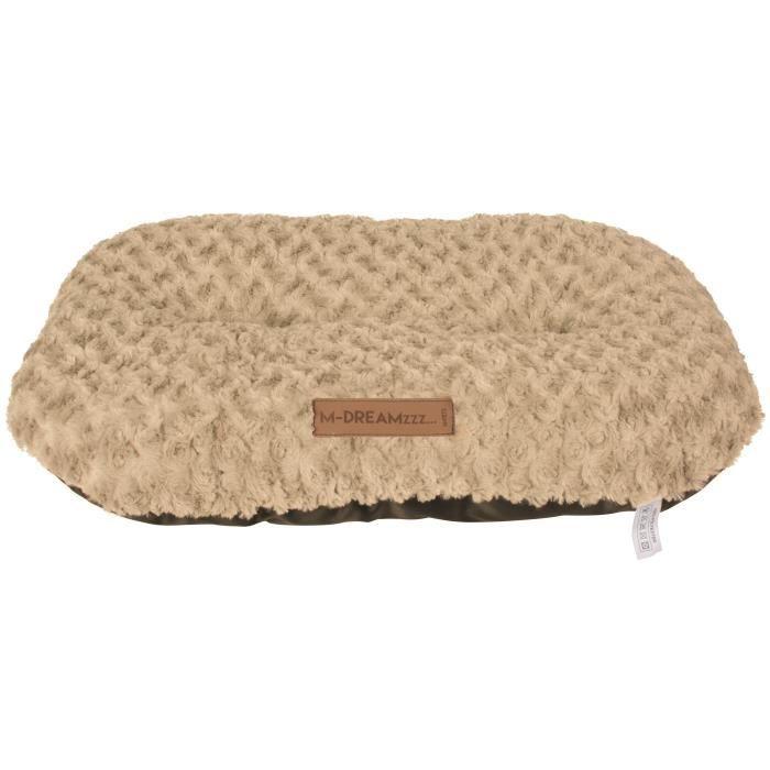 M-PETS Coussin oval Shetland M - 70x48cm - Beige - Pour chien