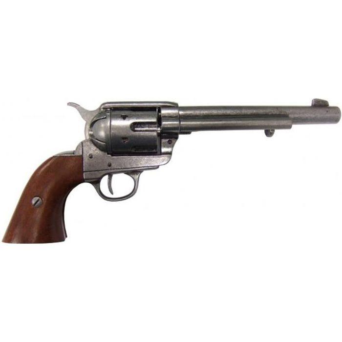 Calibre Peacemaker calibre 45 calibre cavalerie revolver de cavalerie réplique, conçu par Samuel Colt en 1873 en métal et bois,