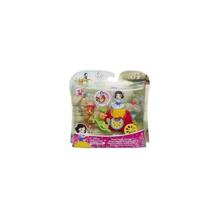 Coffret Mini Princesse Blanche Neige Avec Son Carrosse Pomme Pour Aller Au Bal - Poupee Disney Princesse