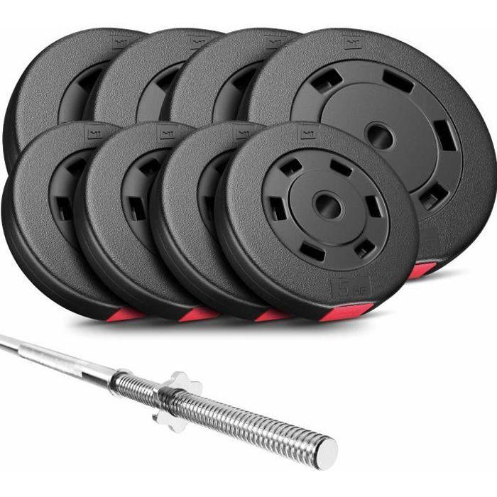 HS Hop-Sport Set PREMIUM de 69kg (1x barre 167cm / 4x10kg + 4x5kg)