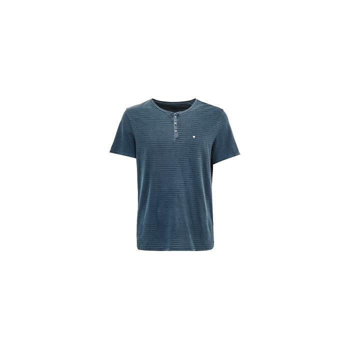 Guess T Shirt homme Karl Bleu gris M81P30