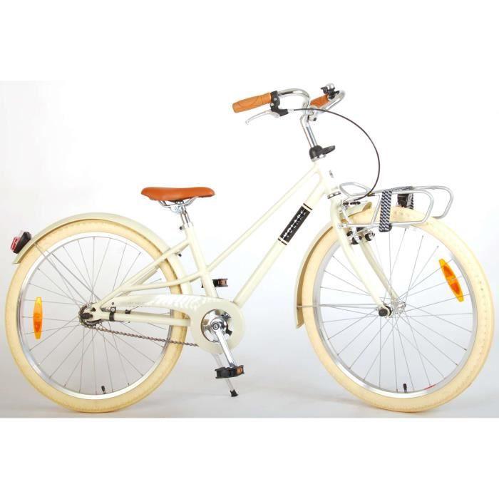 Vélo pour Enfants Volare Melody - Filles - 24 Pouces - Sable - Prime Collection