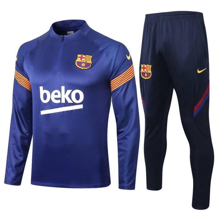 Maillot de Foot Barcelona - Maillot Foot Enfants Garçon Homme 2020 - 2021 Survêtements Foot Maillot de Foot(Haut + Pantalon)