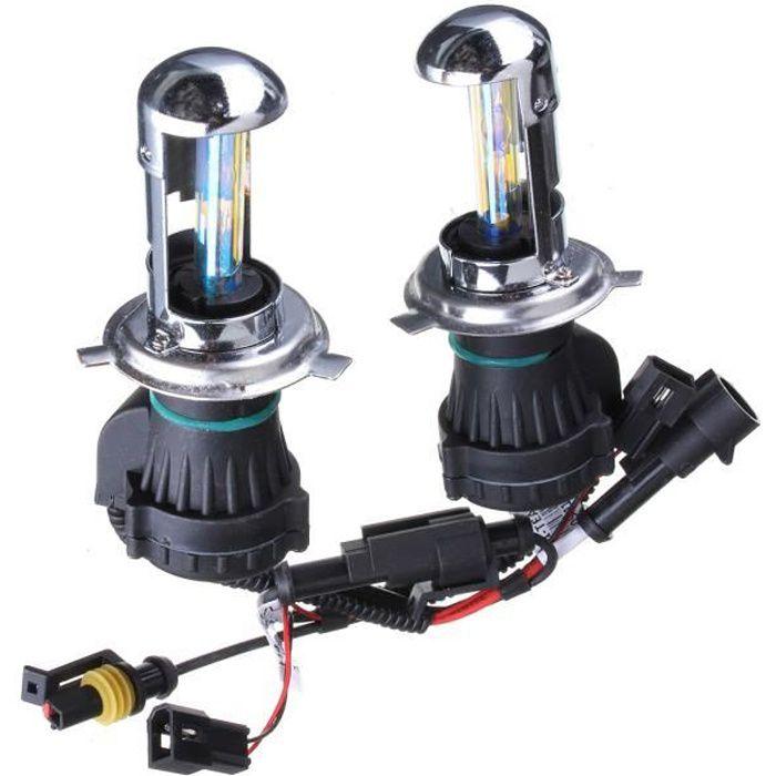 LED Ampoules 55W - H4 H - L - 8000K H4 H - L 2X H4 - H13 - 9004-9007 35W - 55W HID Bi-Xenon Salut - Lo à double faisceau Kit de conv
