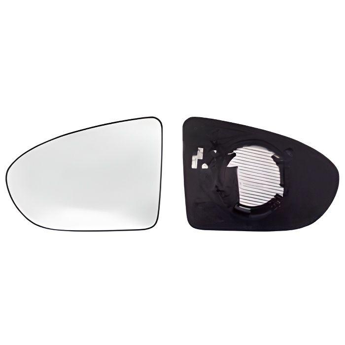 Miroir Glace rétroviseur gauche pour NISSAN QASHQAI I ph.2, 2010-2014, dégivrant, asphérique.