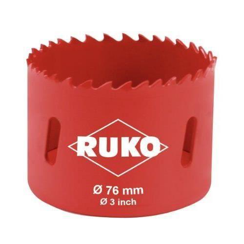 RUKO - 106076 - Scie-cloche bi-métal - 76 mm (Import Allemagne)