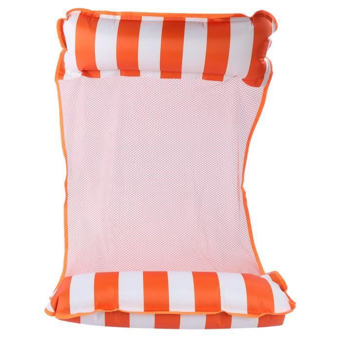 Lit Flottant d'hamac d'eau, Hamac d'eau Gonflable Fainéant Chaise pour la Piscine (orange) CYA447