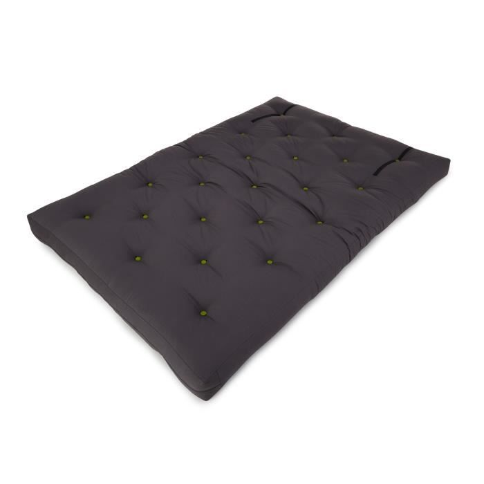 futon matelas futon 140x200 cm ecru achat vente matelas cdiscount. Black Bedroom Furniture Sets. Home Design Ideas