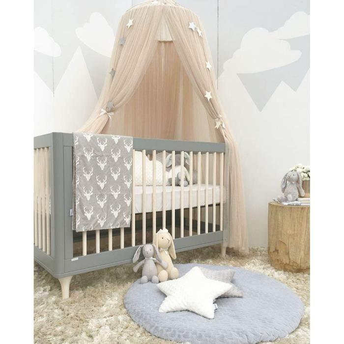 BARRIÈRE DE SÉCURITÉ  Rideau de lit de bébé rond tente de lit bébé accro