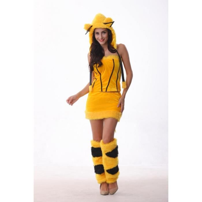 d guisement femme halloween pikachu pok mon go v tement cosplay femme achat vente. Black Bedroom Furniture Sets. Home Design Ideas