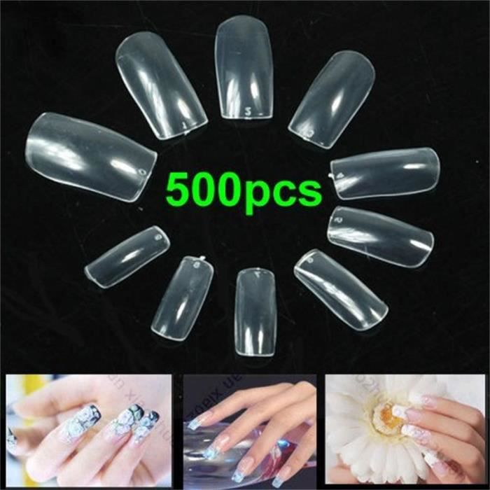 FAUX ONGLES DIY Kit 500 Faux Ongles conseils Transparent Pro
