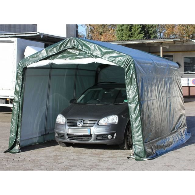 abri tente carport 3 3 x 6 0m vert achat vente garage abri tente carport 3 3 x 6 cdiscount. Black Bedroom Furniture Sets. Home Design Ideas