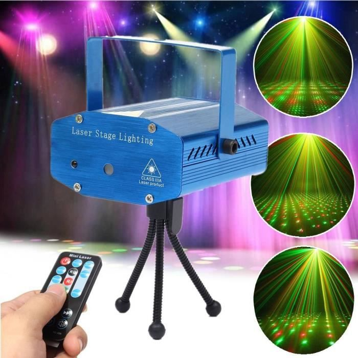 mini laser lampe projecteur xmas lumi re eclairage telecommande pour dj disco noel rouge et vert. Black Bedroom Furniture Sets. Home Design Ideas