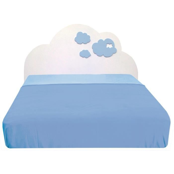 t te de lit enfant nuages bleus 90 achat vente t te de lit cdiscount. Black Bedroom Furniture Sets. Home Design Ideas
