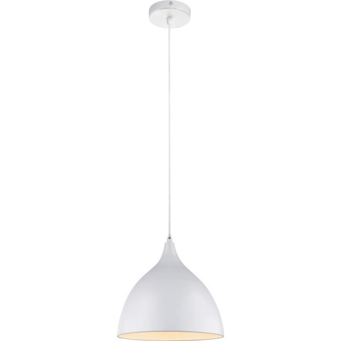 Luminaire suspension cuisine suspension vert pastel for Luminaire suspension blanc