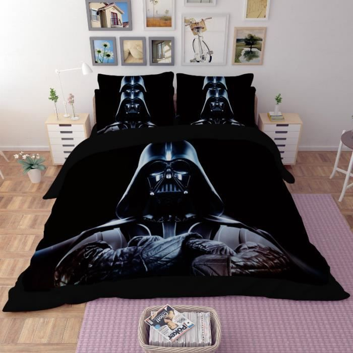 parure de lit star wars darth vader 220 240 cm 4 pieces achat vente housse de couette. Black Bedroom Furniture Sets. Home Design Ideas