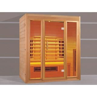 Sauna infrarouge ospazia hemlock luxe 3 places achat for Sauna infrarouge exterieur