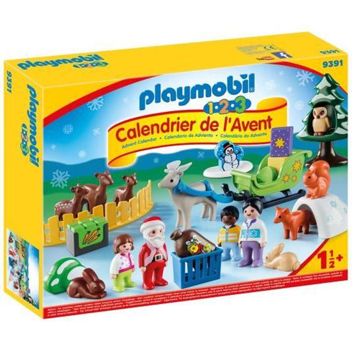 Calendrier De Lavent Tut Tut 2019.Playmobil 9391 Playmobil 1 2 3 Calendrier De L Avent Pere Noel Et Animaux De La Foret Nouveaute 2019