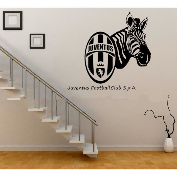 3d diy juventus football mural autocollant stickers muraux for Decoration murale juventus