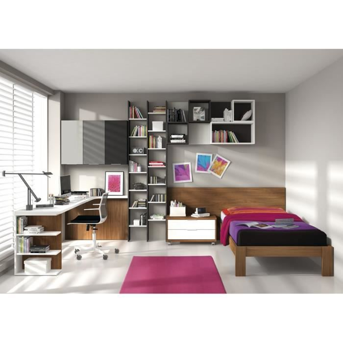 chambre boga tigre lit bureau et biblioth que achat vente chambre compl te chambre boga. Black Bedroom Furniture Sets. Home Design Ideas